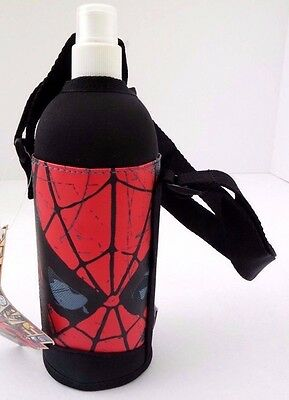 Marvel Comics Spider-Man Boy's Kids Water Bottle With Carry On Graphic Case NWT