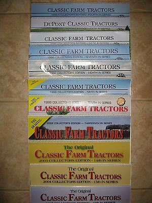 Dupont Classic Tractor calendars. 1993 through 2010, minus year 2000.