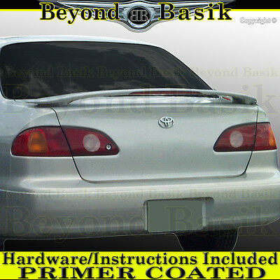 For 1998 1999 2000 2001 2002 Toyota Corolla Factory Style Spoiler w/LED PRIMER