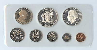 Jamaica 1974 8 Piece Proof Set (#1075) Complete with all Paperwork.