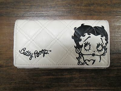 Betty Boop White Wallet Womens Black Design White Accessory Smooth Fun Character