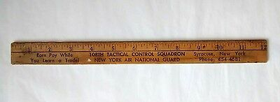 Vintage New York Air National Guard 108th Tactical Control Squadron Wooden Ruler