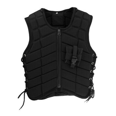 ADULT / KIDS Safety Horse Riding Equestrian Eventer Protective Vest Black