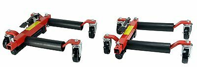 "(2) Dragway Tools® 12"" Hydraulic Wheel Dolly Vehicle Positioning Jack Lift Hoist"