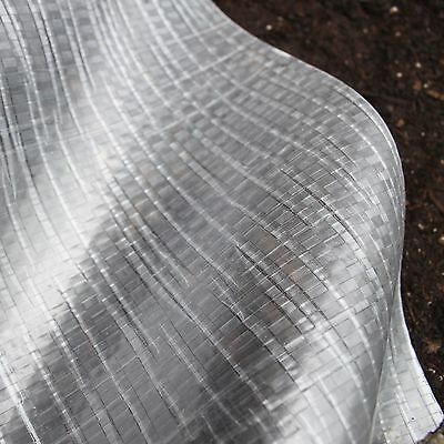 5 Yr 10 Mil Clear Woven Greenhouse Plastic- 7, 10, 12 & 16ft Wide -VARIOUS SIZES