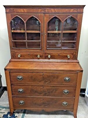 Federal Mahogany Secretary Desk  C1800-1810