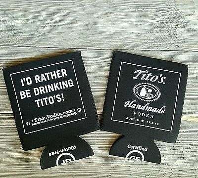 Titos Vodka Beer Coozies New Set of 2