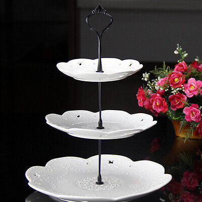 2/3 Tier Cake Plate Stand Cupcake Fittings Silver Golden Wedding Party ft