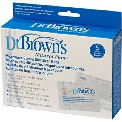 New Dr. Brown's Microwave Steam Sterilizer Bags, BPA-Free - Free Shipping