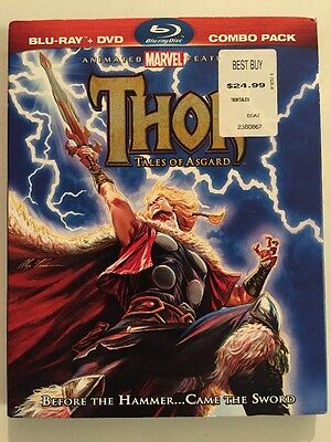 THOR: TALES OF ASGUARD (Blu-ray/DVD, 2011, 2-Disc Set) W/Slipcover!