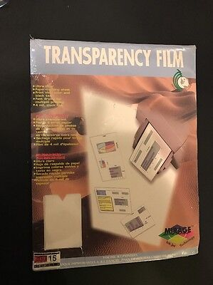 NEW Mirage Transparency Film for Ink Jet Printers 15 Sheets New