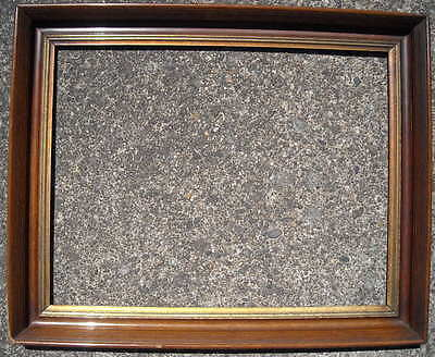 "antique 19th c LARGE AMERICAN PINE & GESSO PICTURE FRAME 21 1/2"" x 28"" c 1860"