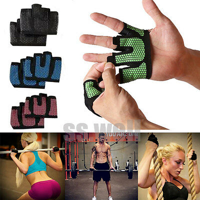 Anti-skid Weight lifting Gloves Breathable Half Finger Grip Gym Fitness Protecto