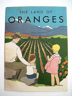 """1930 Ad Booklet """"Calif.Fruit Growers Exchange"""" w/Weight & Height Chart for Kids*"""