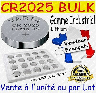 Piles boutons VARTA CR2025 - Disponibles aussi : CR2016 CR2032 / AAA LR03 AA LR6