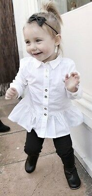 New River Island MINI Baby Girls 9-12 months white blouse with tags 80cm RRP £12