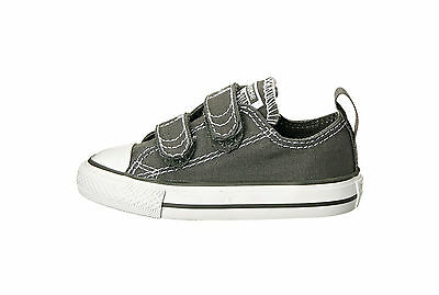 Converse All Star Low Chuck Taylor Infant Toddler Shoes for Girls Charcoal Gray