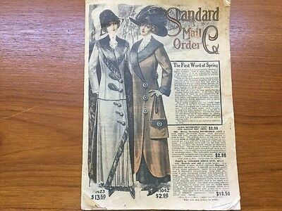 """FEB 1912 Standard Mail Order Co. """"The First Word of Spring"""" Catalog"""