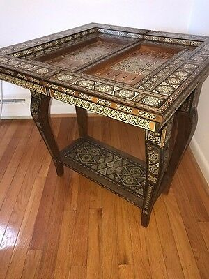 Antique Inlaid gaming table in amazing condition