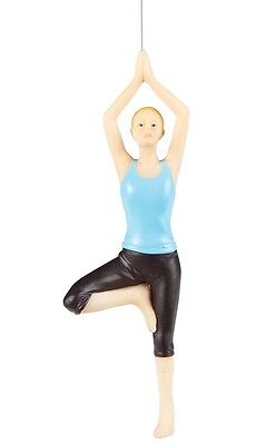 "Gallerie Ii 5"" Hand Painted Resin Yoga ""tree"" Pose Christmas Ornament"
