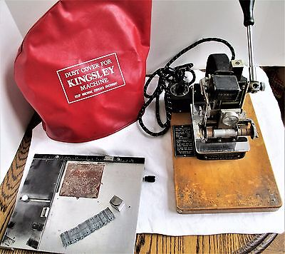 Kingsley Machine Hot Foil Stamping Machine Used Working Condition W/ Extras