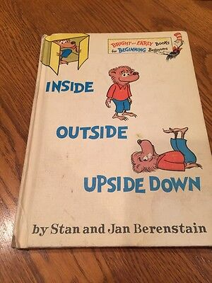Inside Outside Upside Down Berenstain Bears Beginner Books 1968