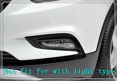 For Vauxhall Opel Mokka 2016 2017 ABS Chrome Car Front Fog Light Surround Trims