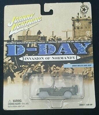 WWII Willys MB Jeep D-Day Invasion of Normandy Johnny Lightning 1:64 Diecast New