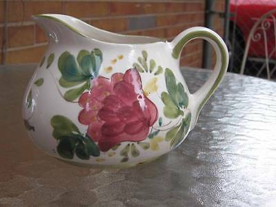 Vintage Floral Pitcher Hand Painted Portugal
