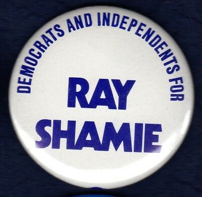 Ray Shamie Senate '84 Ma New England Dems/indy Support Political Pinback Button