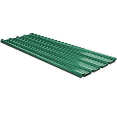 12 pcs Roof Panel for Garages Sheds Stables Buildings Galvanised Steel Green