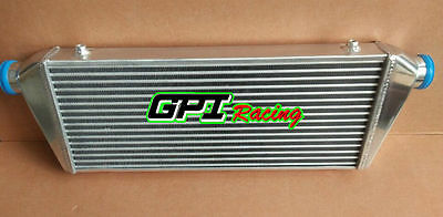 """FMIC TURBO ALUMINUM INTERCOOLER 460 x 230 x 50mm 2.25"""" INLET/OUTLET Tube and Fin"""