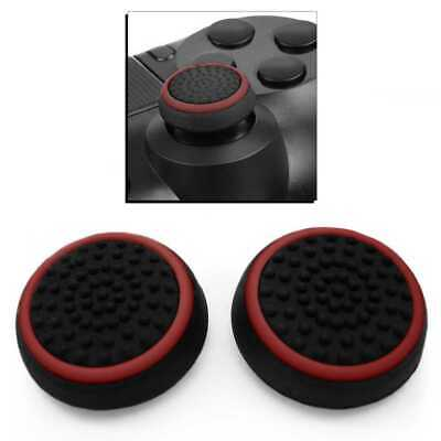 Protection Silicone Bouton Thumb Joystick Manette pour PS 4/Pro Xbox One Rouge