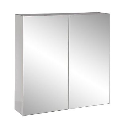 750x750mm Soft Close Pencil Edge Mirror Shaving Medicine Cabinet w Glass Shelves