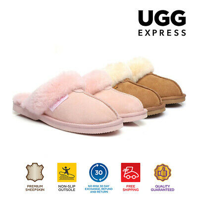 UGG Big Size Kids Scuffs / Slippers, Premium Australian Fine Wool Sheepskin