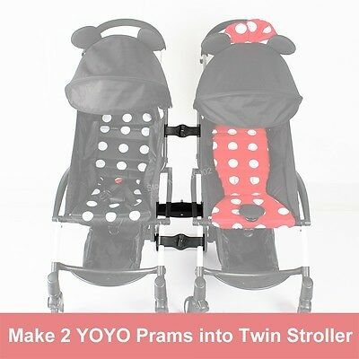 Generic Connector Make 2 Prams Into Twin Groove Stroller For Babyzen YOYO Pram