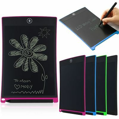 8.5/12'' LCD Writing Pad Notepad Electronic Drawing Tablet Graphics Board&Stylus