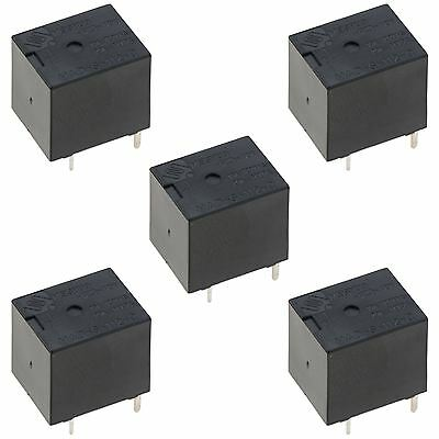 5 x 12V Mini Changeover Power Relay 20A 5-Pin SPDT