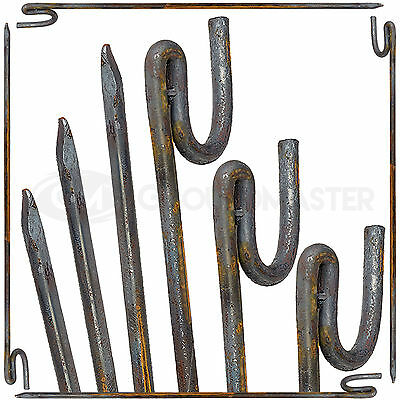 GroundMaster Barrier Fencing Pins - Strong Metal Stakes Safety Fencing Support