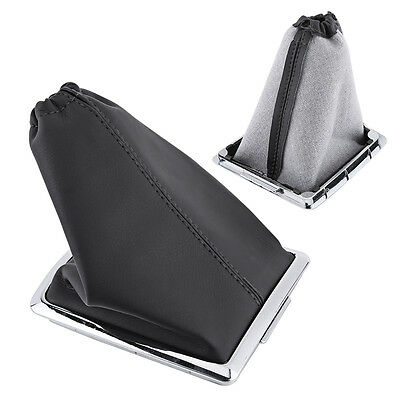 Black PU Leather Gear Shift Stick Boot Gaiter Cover Frame For 05-12 Ford Focus