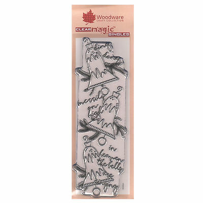 Woodware 3 x 8 Clear Cling Stamps - FRS358 Heavenly Bells