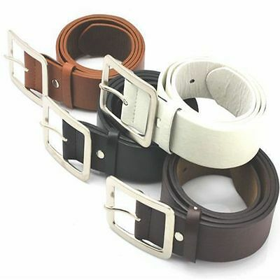 Men's Genuine Leather Dress Belt Casual Pin Buckle Waist Strap Belts Waistband P