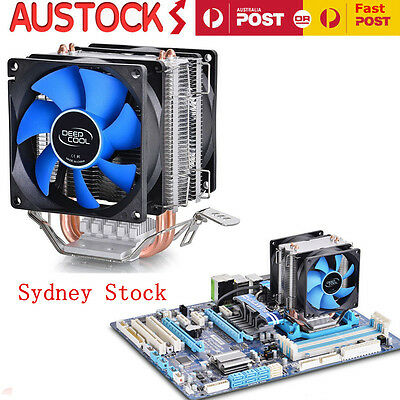 12V CPU Quiet Fan Cooler Heatsink for Intel LGA775/1156/1155 AMD AM3/AM2+ OZ