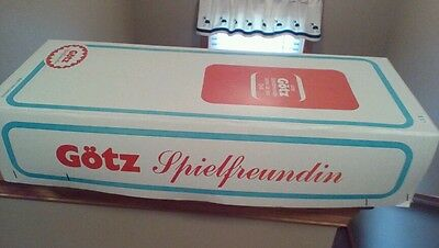 Gotz Spielfreundin Vintage All Vinyl Posable Doll With Box EUC