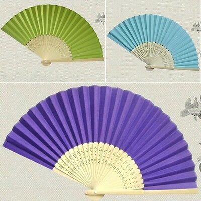 Chinese Wedding Dancing Party Folding Bamboo Cloth Hand Held Pocket Fan Hot