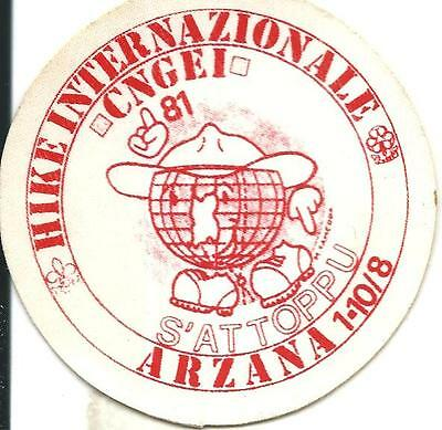 bp 11 Boy scout - C.N.G.E.I. - ARZANA 1981 - HIKE INTERNAZIONALE - Badge