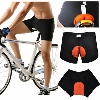 Men Cycling Underwear Gel 3D Padded Bike Bicycle Riding Shorts Pants M-XXL UP