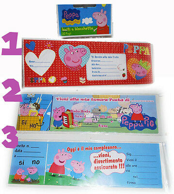Inviti Peppa Pig in Blister 20pz