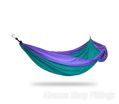 Ticket To The Moon Double Hammock Green / Purple | Camping Hiking Travel