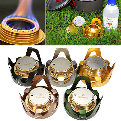 Outdoor Picnic Burner Alcohol Stove Camping Hiking Backpacking Furnace Portable